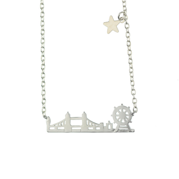 London Skyline Silver Plated Necklace