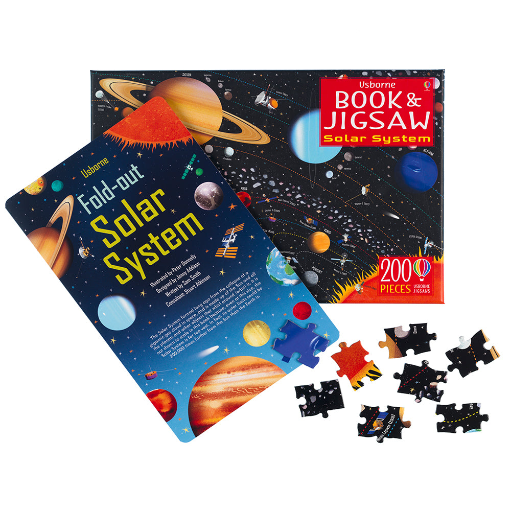 Solar System Book and 200 Piece Jigsaw
