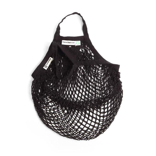Organic cotton string bag, black