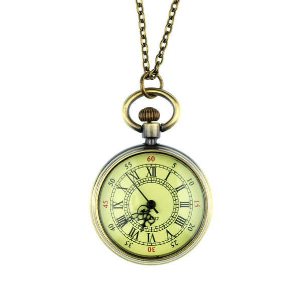 Vintage Style Pendant Fob Watch Necklace