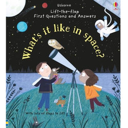 Lift the Flap What's It Like In Space Book Cover Book