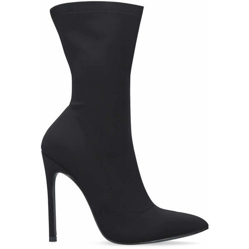 Envy Shoes Hattie Black Lycra Sock Boots