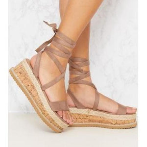 Envy Shoes Esme Mocha Brown Flatforms