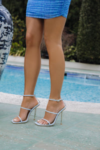 AMBER TURNER 'OFF THE CHAIN' BLUE HEELS