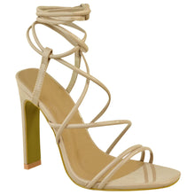 COURTNEY NUDE STRAPPY SANDAL HEELS