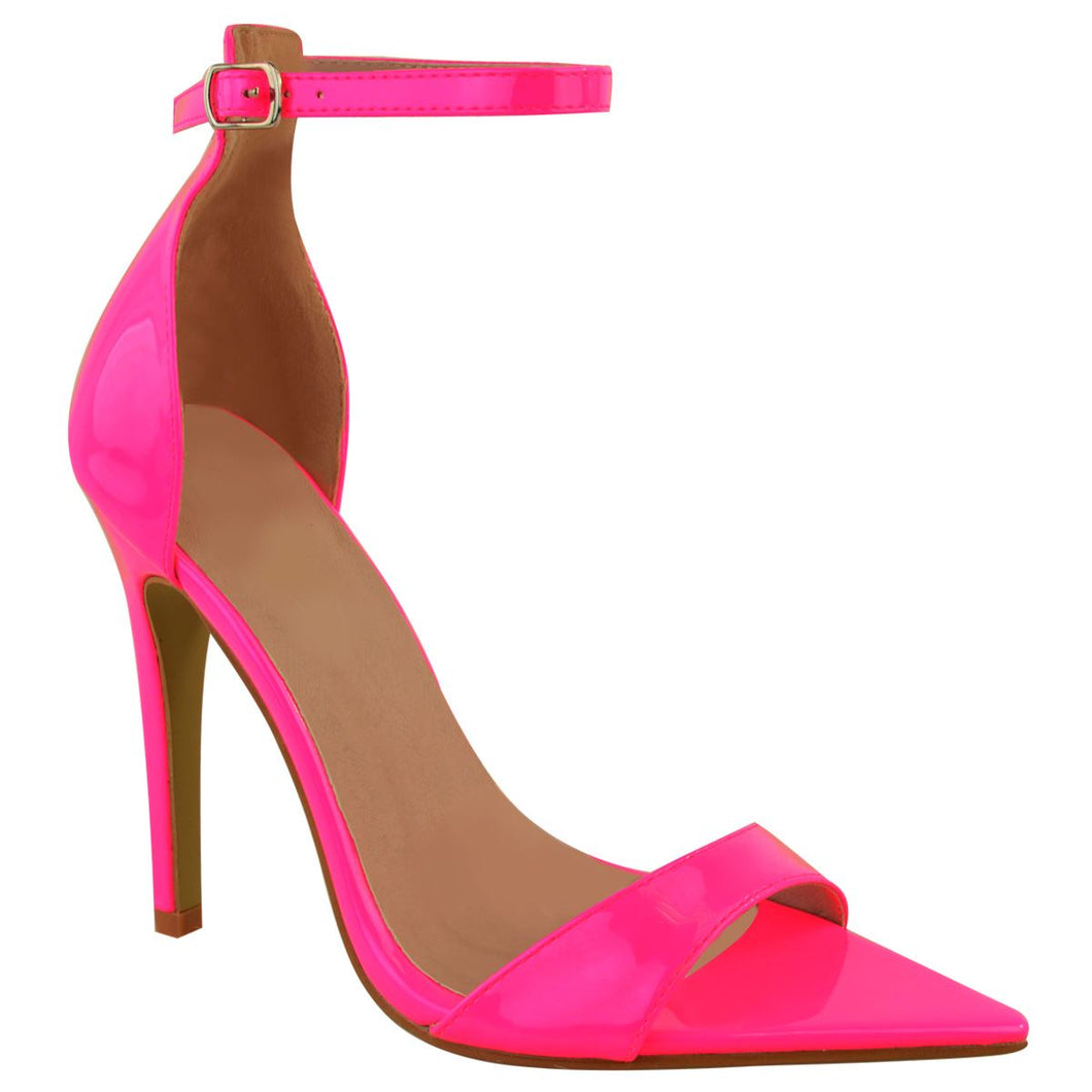 LALA NEON PINK POINTED HEELS
