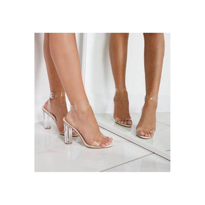 DAISEY CLEAR PERSPEX HEELS
