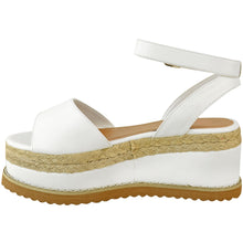 MIMI WHITE FAUX LEATHER FLATFORMS