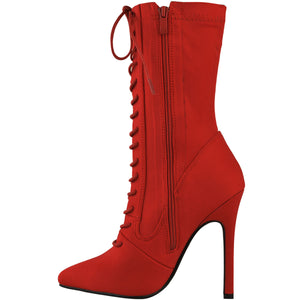 KIMMY RED LYCRA SOCK BOOT