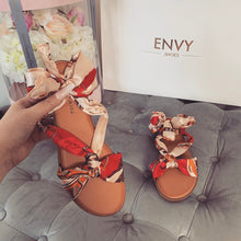 GABBY NUDE SCARF SANDALS