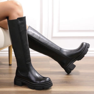 ISLA OVER THE KNEE CHUNKY SOLE BOOTS