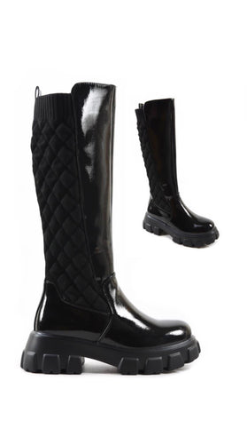IVY KNEE HIGH QUILTED BOOTS