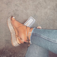 PIPPA ROSE GOLD LACE UP ESPADRILLE FLATFORMS