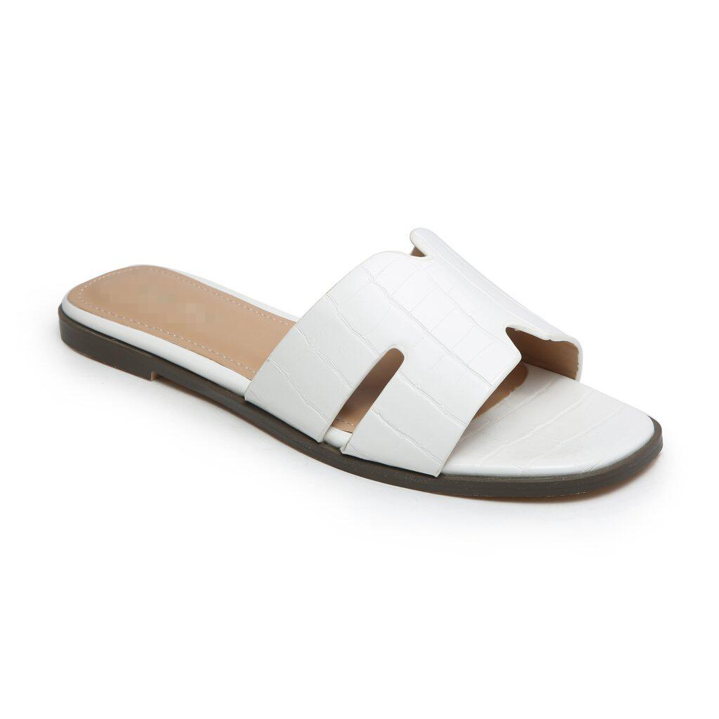 'OLD TOWN ROAD' WHITE CROC SLIDERS