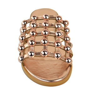 MADISON STUDDED CAGED ROSE GOLD SLIDERS