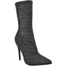 HATTIE BLACK GLITTER LUREX SOCK BOOTS