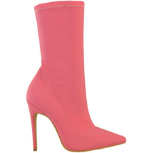 Envy Shoes Hattie Pink Lycra Sock Boots