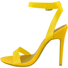 ENVY SHOES GIGI YELLOW PERSPEX STRAPPY HEELS