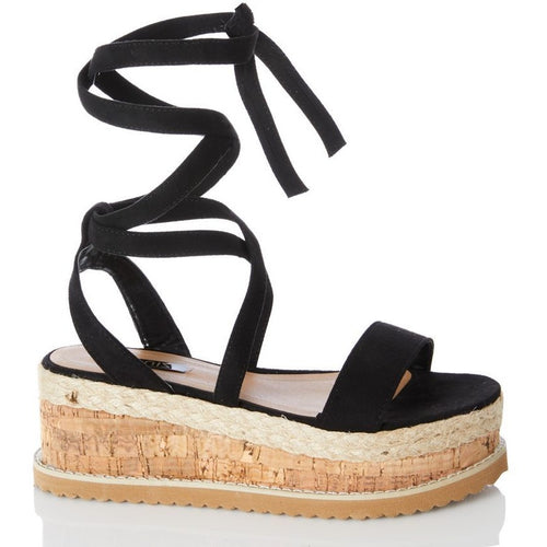 Envy Shoes Esme Black Flatforms