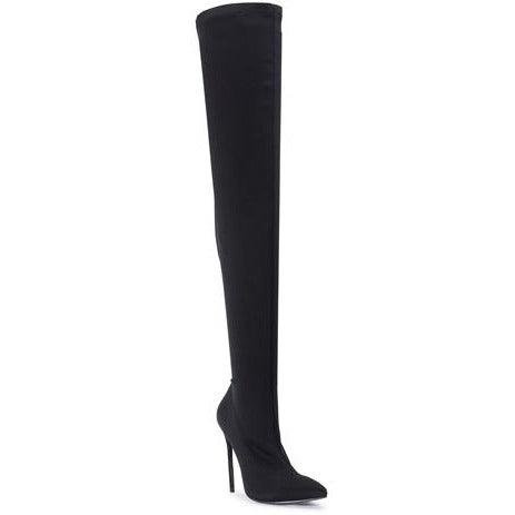 TASHA THIGH HIGH BLACK BOOTS