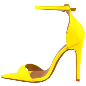 LALA NEON YELLOW POINTED HEELS
