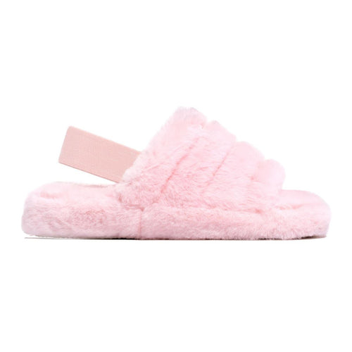 MINI SNUGGLE PINK FAUX FUR SLIPPERS