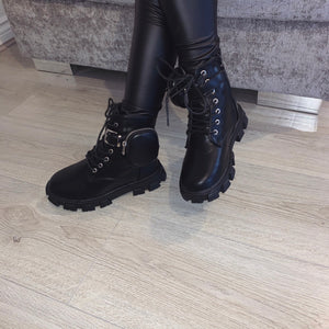 MINI STOMP BLACK BIKER BOOTS