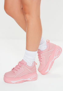 AMBER TURNER 'RUN THIS TOWN' PINK CHUNKY TRAINERS