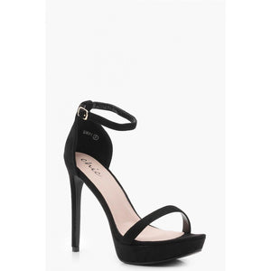 POLLY STRAPPY BLACK PLATFORM HEELS