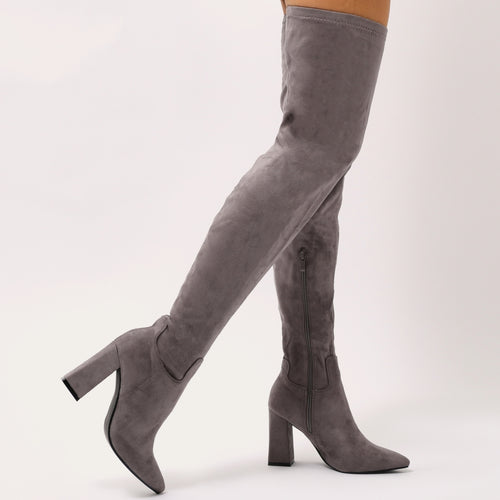 TAMSIN GREY OVER THE KNEE BOOTS