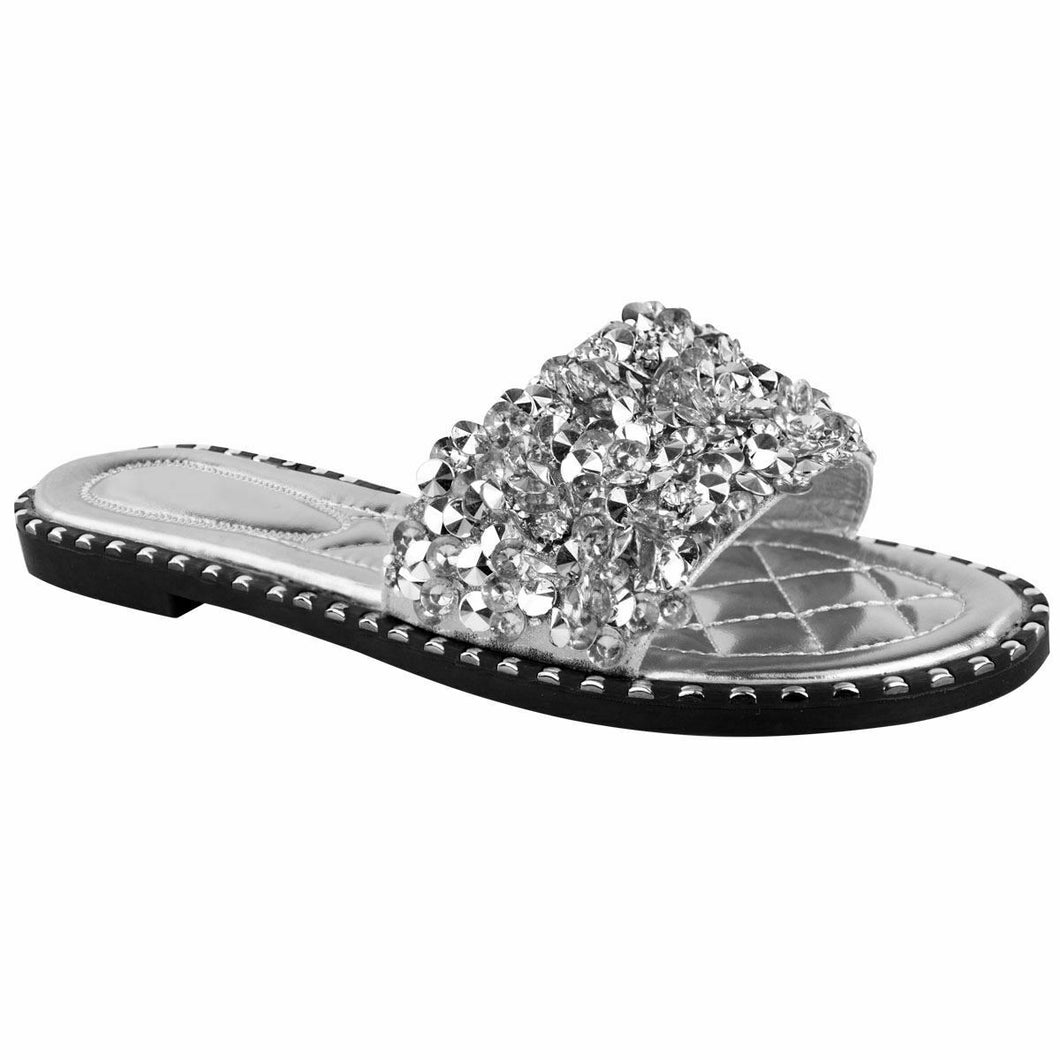 LOLA JEWEL SILVER SLIDERS