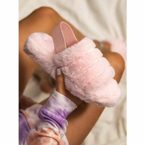 SNUGGLE PINK FAUX FUR SLIPPERS