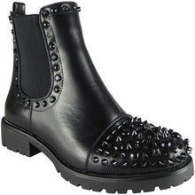 ALEXA STUDDED BLACK ANKLE BOOTS