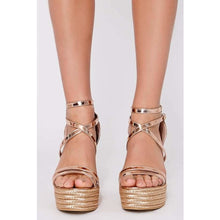 LUCY ROSE GOLD WEDGES