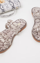 SOPHIE SNAKE STRAPPY SLIDERS