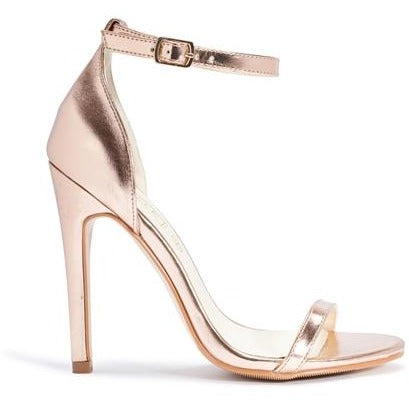 TERRI ROSE GOLD BARELY THERE HEELS
