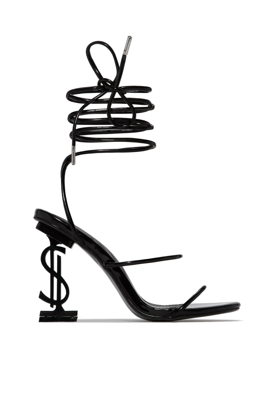AMBER TURNER 'THE BU$INE$$' DOLLAR SIGN BLACK STRAPPY HEELS - PRE ORDER EXPECTED DISPATCH END OF SEPT