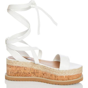 Envy Shoes Esme White Flatforms