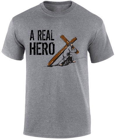 New for 2018: Jesus Christ,  A Real Hero | Men's T Shirt