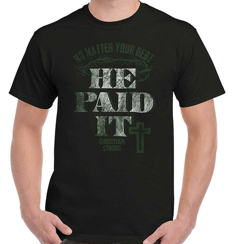 He Paid It Short-Sleeve Men's T Shirts