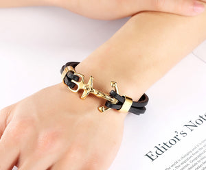 2018 Multi-layers Stitching Gold & Steel Color Christian Bracelet