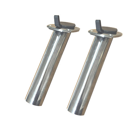 Dolphin Stainless Flush Rod Holders