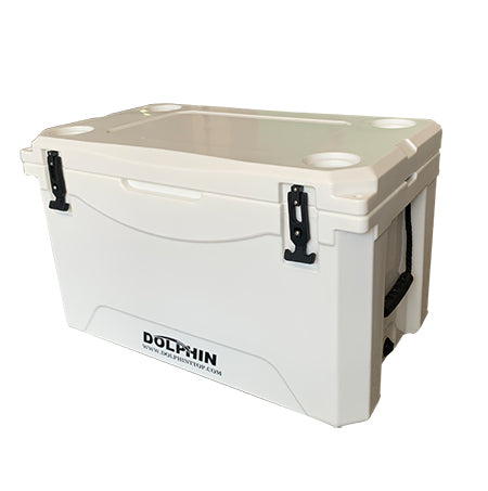 Krypt 85 QT (80L) Roto-Molded Hard Fishing Cooler - Optional Leaning Post Kit, Cushioned Seat and Rack