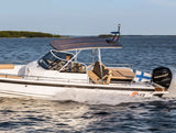 Universal Walk Around Fishing Boat T Top Bimini & Wakeboard Tower