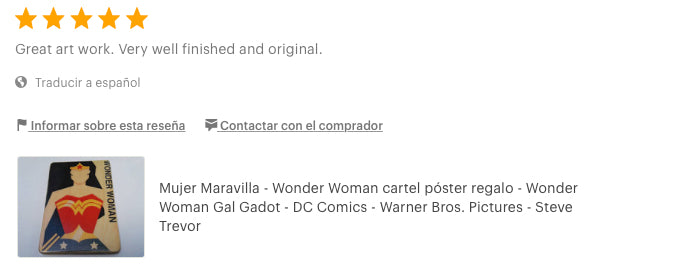 Wonder Woman. poster. print.  gift. Amazon warrior princess. review artesanalwoodprint Etsy