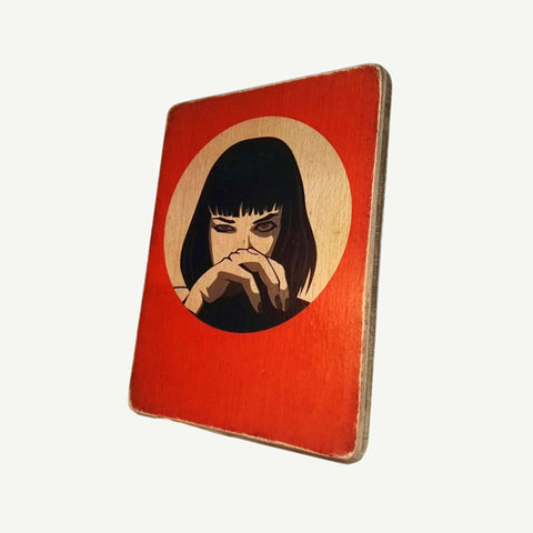 Pulp Fiction - Nose  - Recycling wood Art - artisanal print - www.artesanalwoodprint.com
