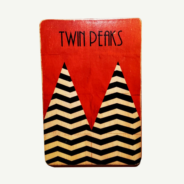 Twin Peaks - Mountains - Artisanal Pop Art woodprint - www.artesanalwoodprint.com