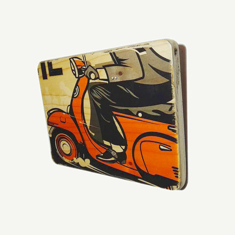 Vespa - Pop Art - Artisanal Pop Art woodprint - www.artesanalwoodprint.com