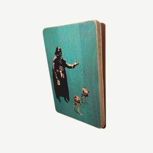 STAR WARS - Banksy  - Recycling wood Art - artisanal print - www.artesanalwoodprint.com