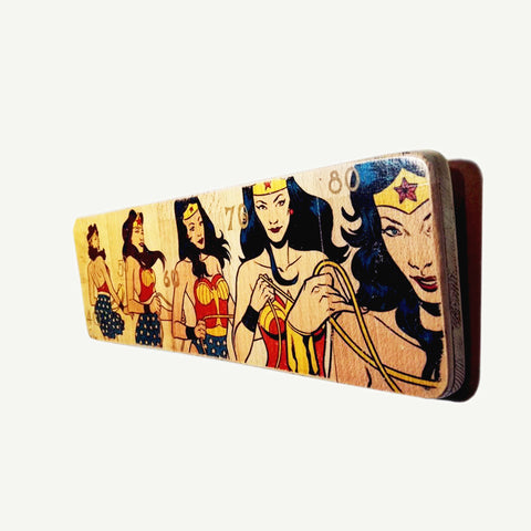 Wonder Woman - Transformation - Artisanal Pop Art woodprint - www.artesanalwoodprint.com